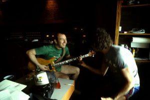 Pete and Dan at Air Studios, Montserrat 82