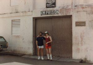 Darrell & Billy at HM Prison, Montserrat 82