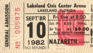 Civic Center Arena, Lakeland FL ticket 10.9.82
