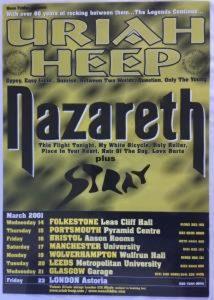 Nazareth/Uriah Heep Glasgow Garage poster 21.3.01