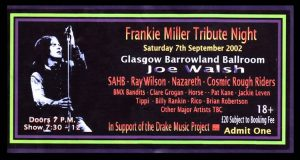 Frankie Miller Tribute Night ticket 7.9.02