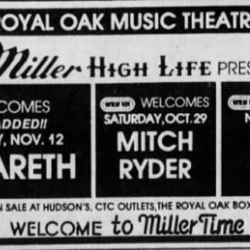 Music Theater, Royal Oak MI advert 12.11.83