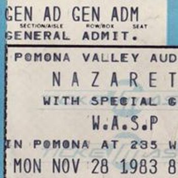 Pomona Valley Auditorium, Pomona CA ticket 28.11.83