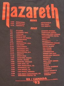 Loud and Proud North American tour dates 06-07.93