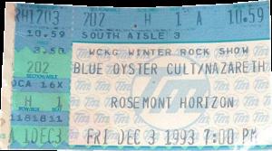 Rosemont Horizon, Rosemont IL ticket 3.12.93