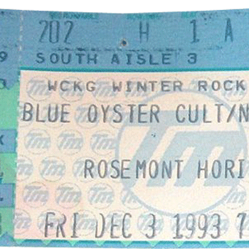 Rosemont Horizon, Rosemont IL ticket 3.12.93