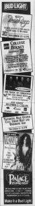 Palace Of Auburn Hills MI advert 4.12.93