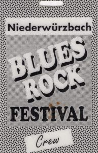Niederwürzbach Blues Rock Festival crew pass 2.4.94