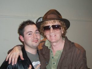 Jordan Rankin with Ian Hunter @ Tartan Clef Awards, SECC, Glasgow 27.11.09