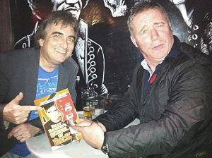 With Ally McCoist at School Of Rock book launch, Solid Rock Café, Glasgow 10.11.11