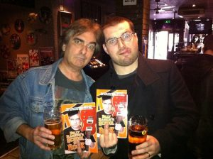 With Ted at School Of Rock book launch, Solid Rock Café, Glasgow 10.11.11
