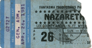Lee County Arena, Ft Myers FL ticket 26.4.81