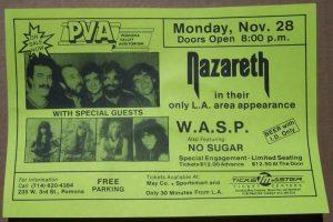 Pomona Valley Auditorium, Pomona CA flyer 28.11.83