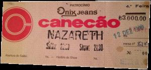 Canecão, Rio de Janeiro, Brazil ticket 12.12.90