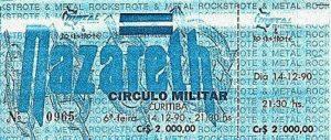 Circulo Militar, Curitiba, Brazil ticket 14.12.90