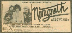 Civic Auditorium, Omaha NE advert 18.11.81