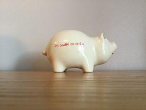 I'm Bankin' On Rankin piggy bank promo 84