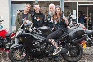 Triumph Glasgow Rock Radio charity bike wash 10