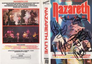 Nazareth Live Signed Betamax Video Cover 81