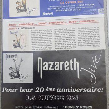 French No Jive magazine cuttings 92