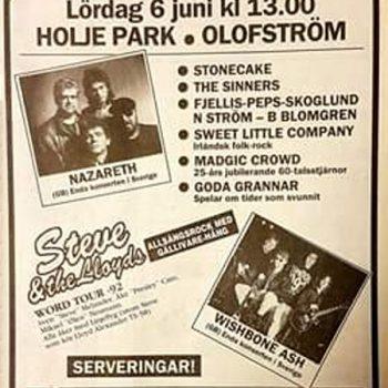 Sommar Festivalen, Olofström, Sweden advert 6.6.92