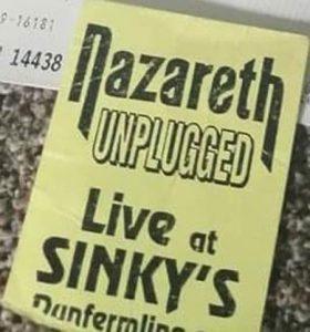 Sinky's, Dunfermline poster 21st December 21.12.94