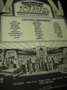 1981 DMA client roster flyer