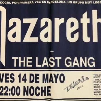 Zeleste, Barcelona, Spain advert 14.5.92