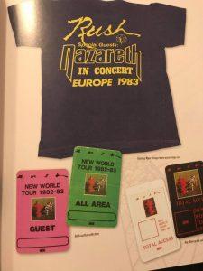 Rush tour t-shirt & passes 05.83