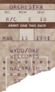 Stanley Theater, Pittsburgh PA ticket 13.3.81