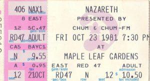 Toronto Maple Leaf Gardens ticket 23.10.81