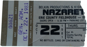 County Fieldhouse, Erie, PA ticket 22.10.81