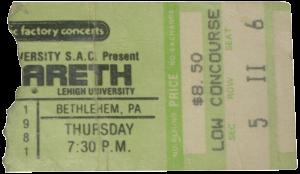 Stabler Arena, Bethlehem, PA 5.11.81 ticket (2)